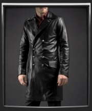 The Butcher Leather Coat by Soul Revolver in Black