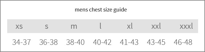 sizeguide reference-mens