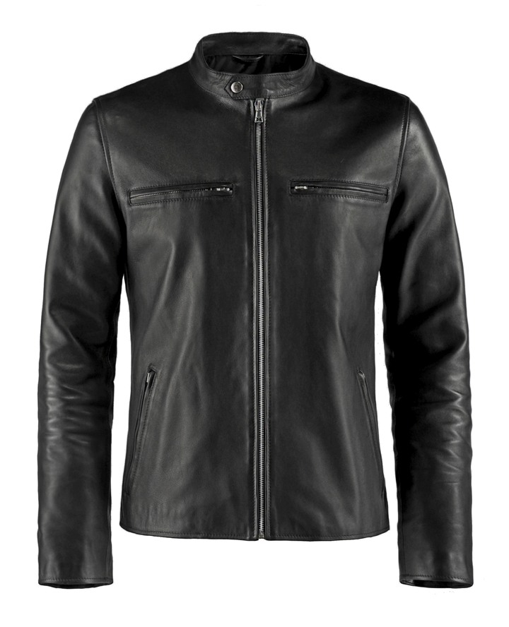 SSLR Mens Slim Fit Vintage Motorcycle Faux Leather Jacket