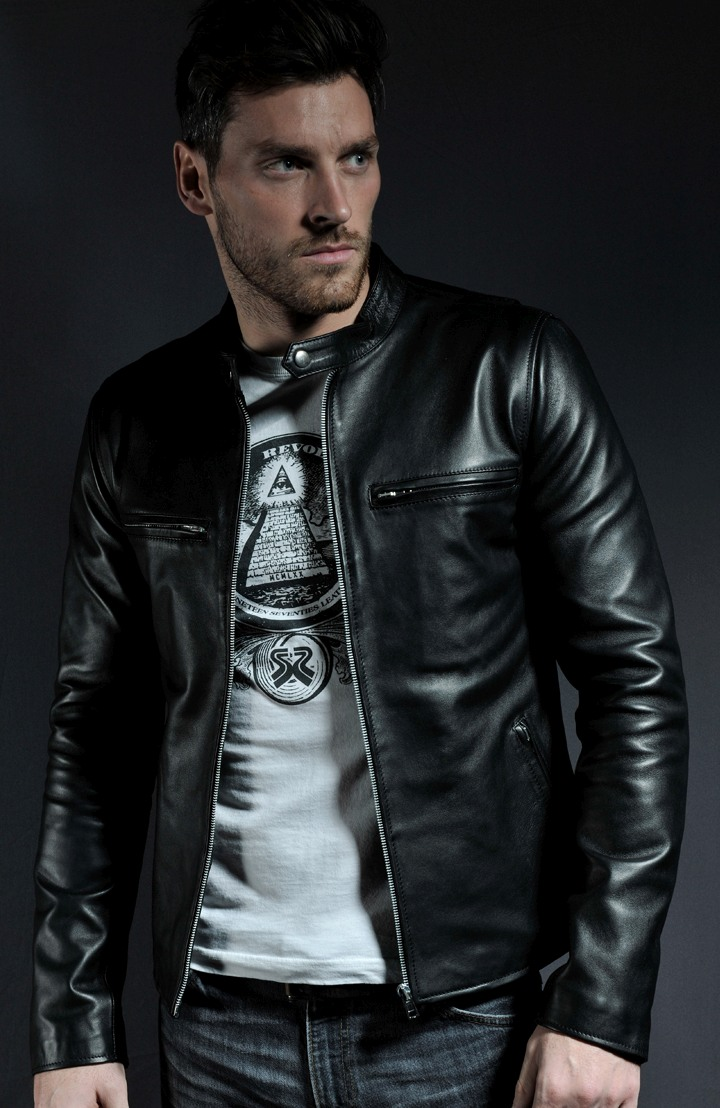 Black Leather Racer Jacket The Flash Board