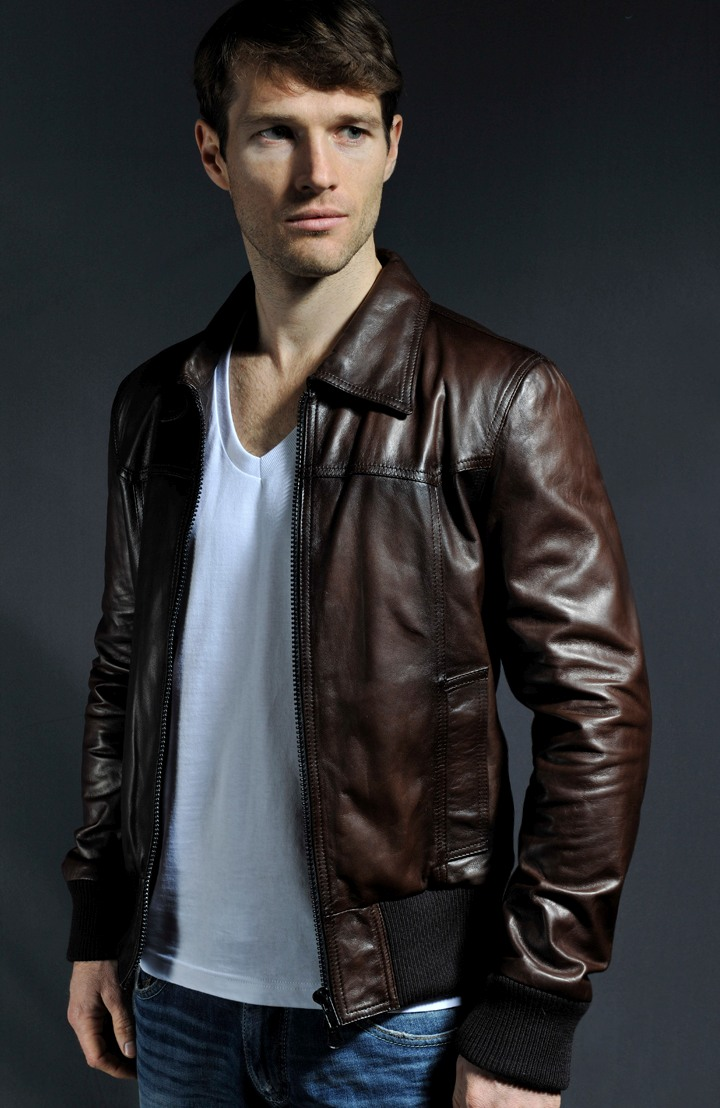 Bomber Style Leather Jacket The Deal Soul Revolver