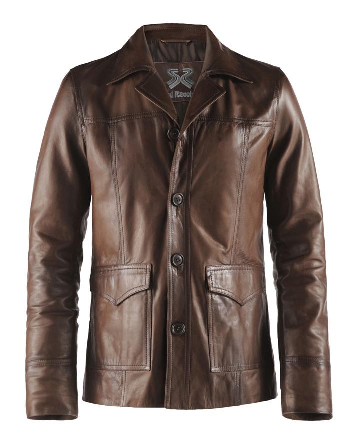 Mens Classic Vintage Leather Jacket Hitman Soul Revolver