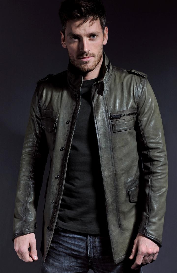 Military Style Leather Jacket Derek Reese Soul Revolver
