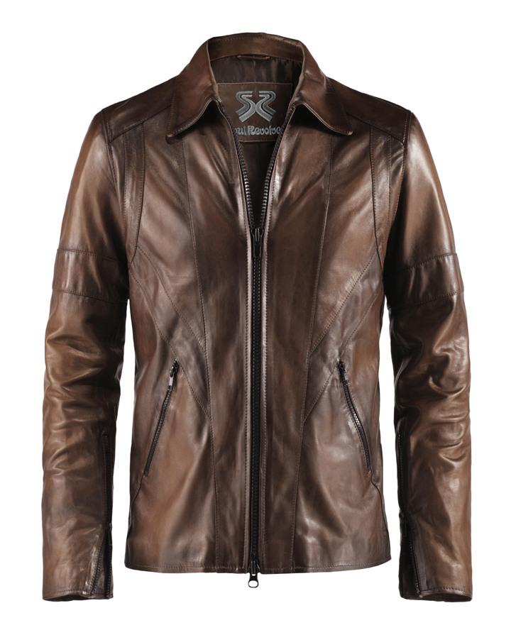 Classic Vintage Style Leather Jacket Wraith Soul Revolver